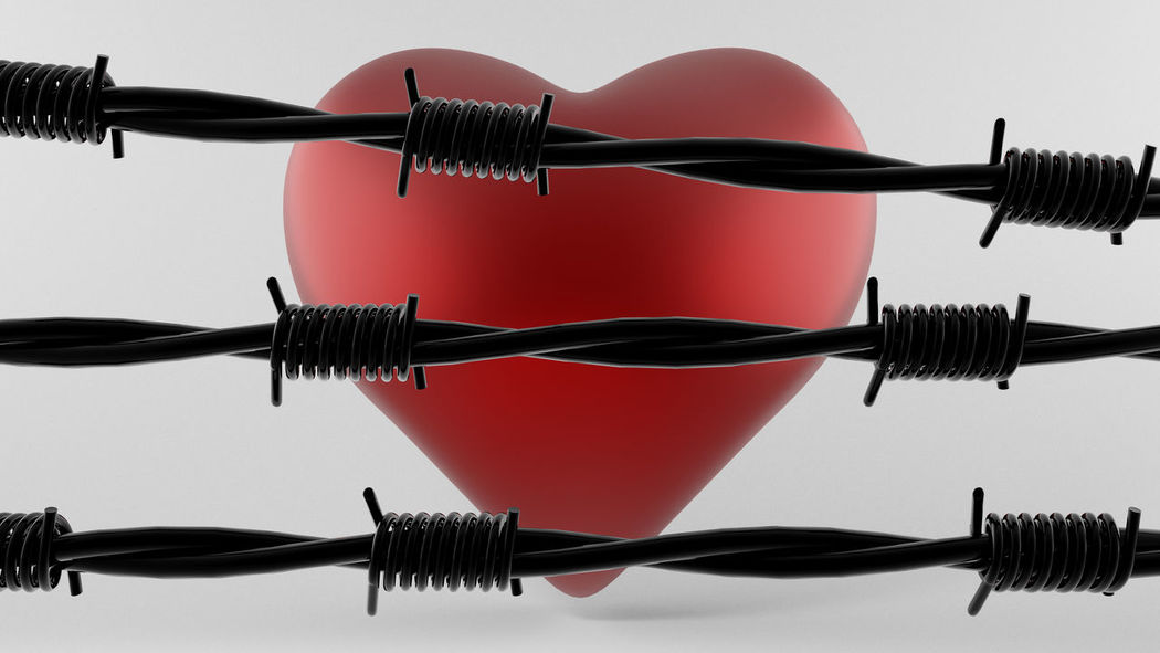 Barbecue Barbed Wire Barbershop Blocked Blocked Path Blocked Road Cable Close Closed Heart Love Metal Pain Path Protection Red Way Wire