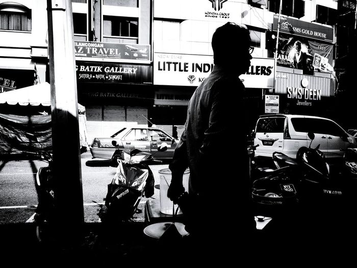 Bnw Photography Klpf2016 Fresh On Eyeem  Bnw_city Bnw_planet Standing Men Silhouette Street City Life Outdoors Bnw_society Bnw_magazine Street Style From Around The World