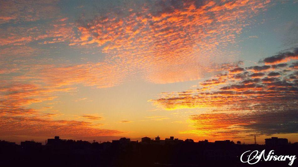 Good Evening Evening Sky Evening Light Setting Sun Clouds And Sky Viewfromthetop Terrace Samsunggalaxygrand Bhopal The City Light The City Lights