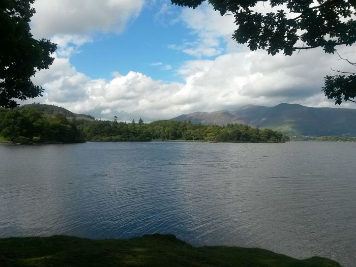 Tranquil Scene Outdoors No People Day Reflection Water Lake Nature Cloud - Sky Blue Sky, White Clouds The Lake District