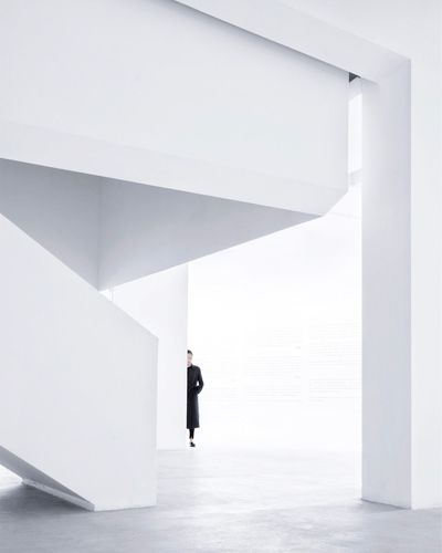 The Architect - 2017 EyeEm Awards Architecture White Color One Person Walking Built Structure Full Length Indoors  Day Standing Modern Real People People
