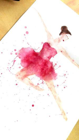 Ballerina Balett Dance Lifeisbeautiful Livethemoment HaveFun Enjoy Motion 5minutework ArtWork Aquarell