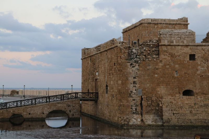 Cyprus Paphos Cyprus Paphos Naturelovers Nature Photography Nature Photography Nature_collection Rock Structure Rock - Object Sea And Sky Old Bridge Archeological Site Archeology Castles Castle Architecture Cloud - Sky Built Structure Sky History Water Outdoors Day Sea No People