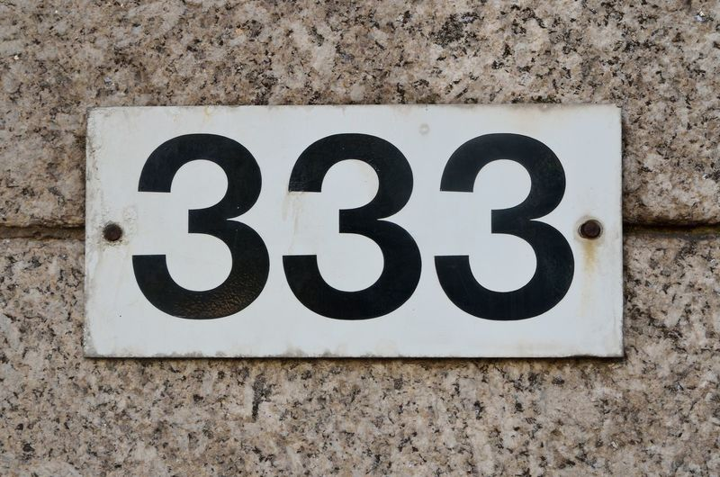 3⃣3⃣3⃣ Numbers Only Architecture Black Color Built Structure Close-up Communication Day Metal No People Number Outdoors Sign Text Three Hundred And Thirty Three Wall Wall - Building Feature Weathered Western Script White Color