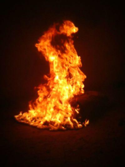 Fire Face Flames