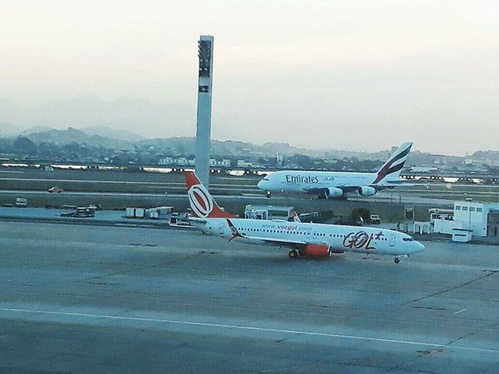 Emirates A380 on Galeão Airport (GIG), Rio de Janeiro. Travel Destinations Airplane Airport Runway A380 Emirates A380 Outdoors Day No People Rio De Janeiro