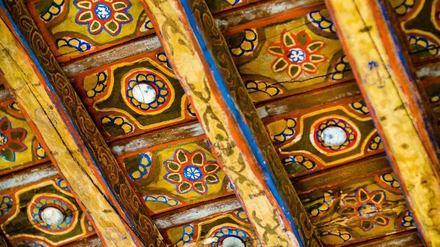Close-up of ornate ceiling