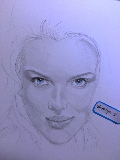 Scarlett Johansson Drawing ArtWork Hello World Art, Drawing, Creativity MyDrawing
