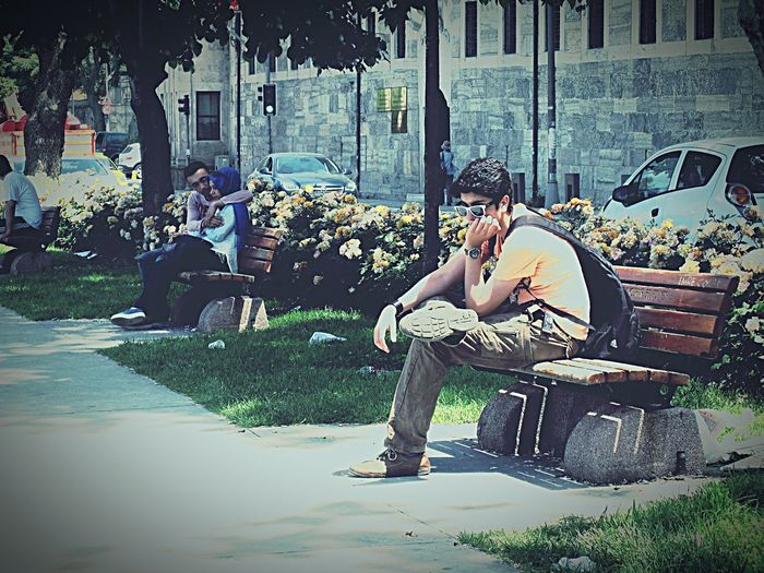Sitting Casual Clothing Outdoors EyeEm Diversity EyeEmNewHere Alone Lonely No Love Envy Daydreaming Focused EyeEm Diversity EyeEmNewHere