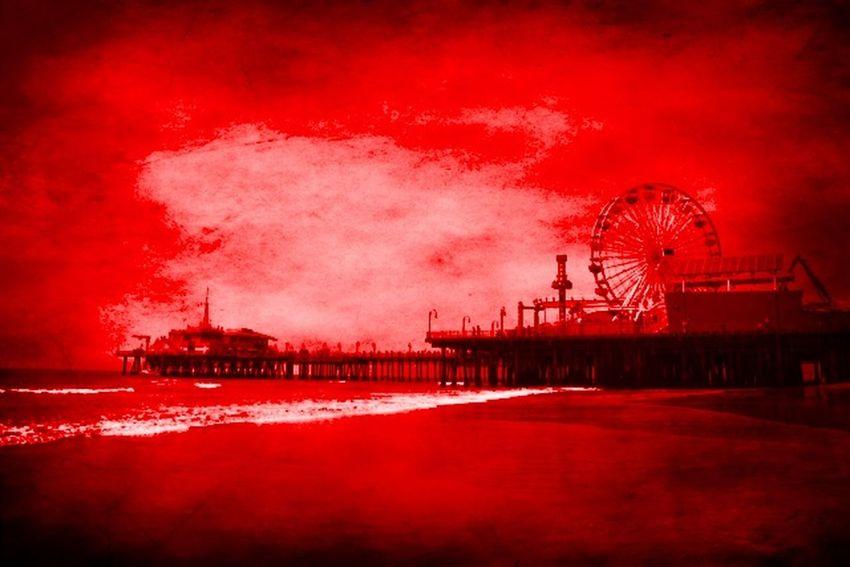 Santa Monica Pier Digital Art by Christine aka stine1 Santa Monica Pier Digital Art Digital Art Photo Digital Artist Digital Artwork Digital Effect No People Outdoors Sky Stine1 Water