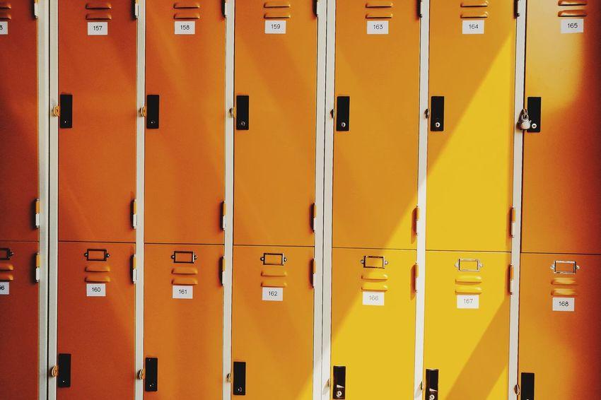 Yellow Locker Colorful Pattern Same  Yellow