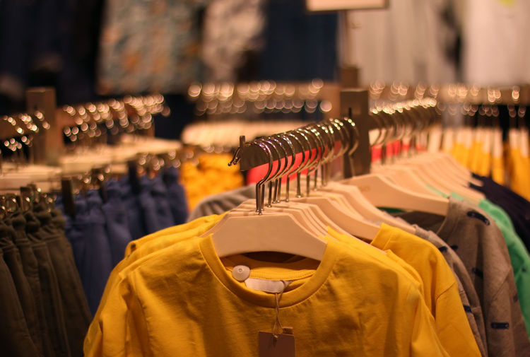 Clothes for sale at store