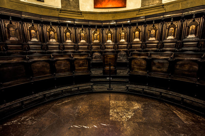 Coro, Chiesa San Fedele, Milano, italy Architecture Catholicism Chairs Choir  Christianity Church City Colours Day Indoors  No People Religion Wood Wood - Material