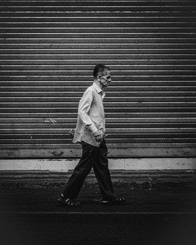 keep walking The Minimalist - 2019 EyeEm Awards Full Length Men Standing Corrugated Iron City Casual Clothing