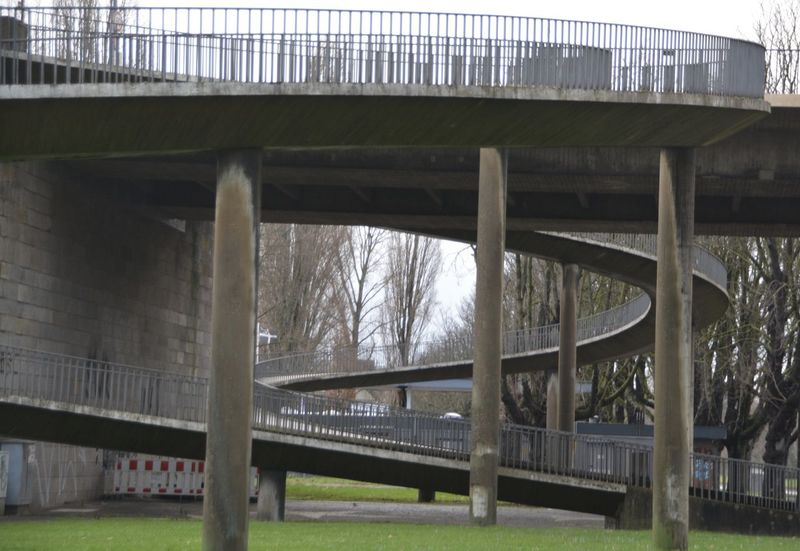 Architectural Column Architecture Below Bridge Bridge - Man Made Structure Built Structure Connection Covered Bridge Day Engineering Footbridge Girder No People Outdoors Overpass Railroad Bridge River Road Transportation Under Underneath