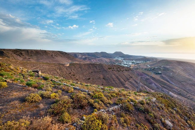 Landscape Canary Islands Lanzarote Island Morning Montains    Sunrise Volcanic Landforms Volcanic Island Agriculture Landscapes With WhiteWall The KIOMI Collection The Great Outdoors - 2016 EyeEm Awards