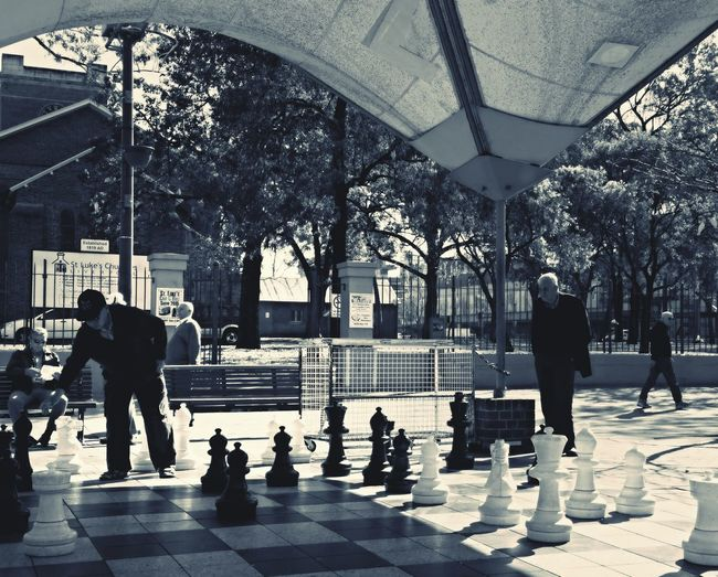 The morning Chess Streetphoto_bw Liverpool NSW Peoplephotography