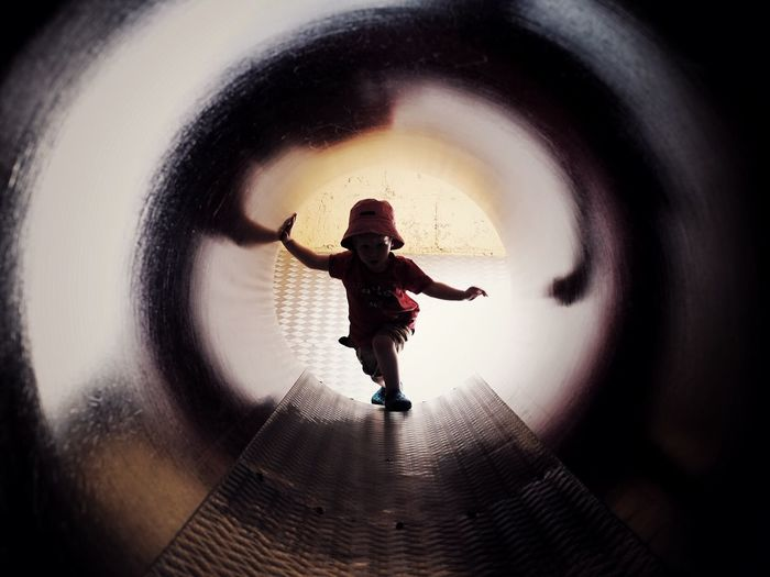 Tunnel vision. Battersea zoo, London. Childhood Tunnel Beauty Silhouette Playtime Exploration Reflections And Shadows EyeEm LOST IN London