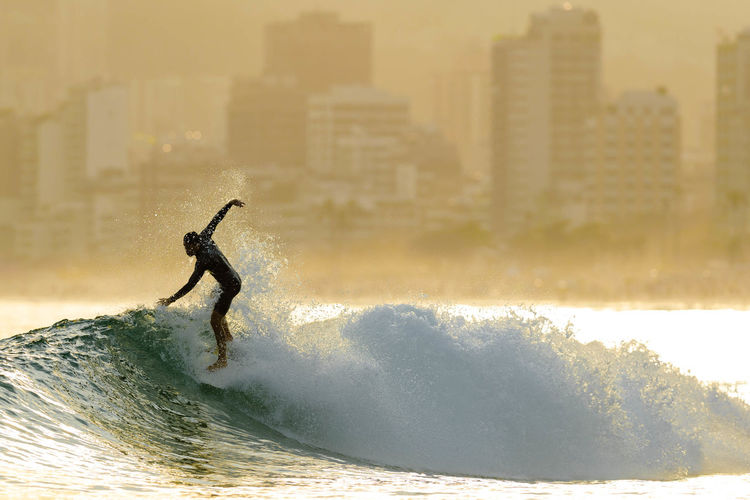 Adventure Board Brazil City Copacabana - Rio De Janeiro Extreme Sports Lanscape Lifestyles Nature Ocean Outdoors Splashing Sport Sports Photography Sunset Sunset_collection Surfing Warm Water Wave Wave First Eyeem Photo