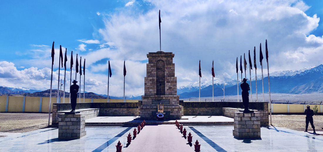 A museum dedicated to war hero's of india situated in ladakh valley in himalayan region of india