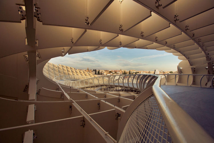 Structural Beauty of Metropol Parasol, Urban Infill Project Architecture Metropol Parasol Sevilla Architecture Built Structure Day Indoors  No People Sky Urban Design Urban Infill