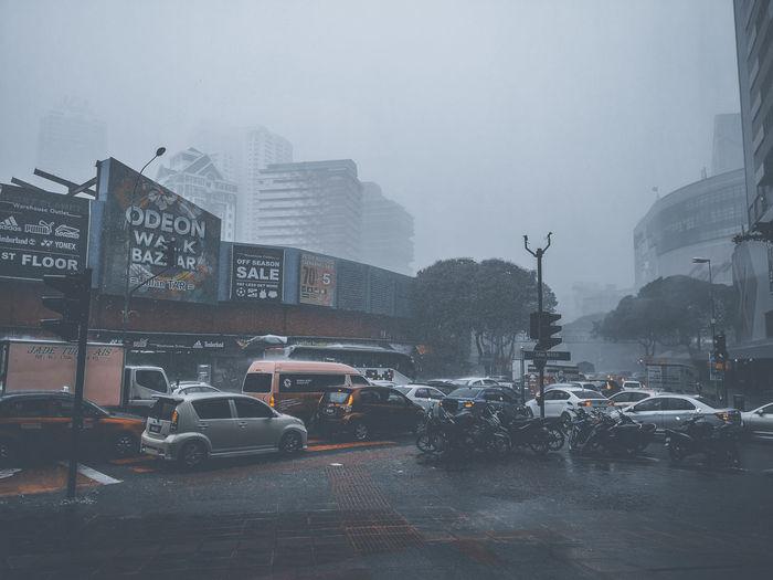City Fog Storm