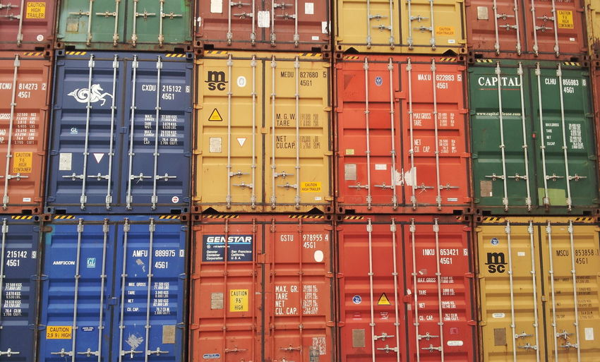 Stacked Box - Container Canal Cargo Container City Commerce Commercial Dock Container Container Ship Harbor In A Row Metal Multi Colored No People Nokia  Shipping  Trade Transportation World Trade