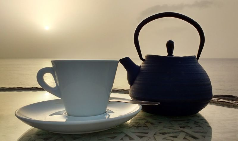 Cup Cup And Saucer Cup Of Tea..  Sea Sillouette Sky Tea - Hot Drink Tea Time Teapot Tranquillity Live For The Story
