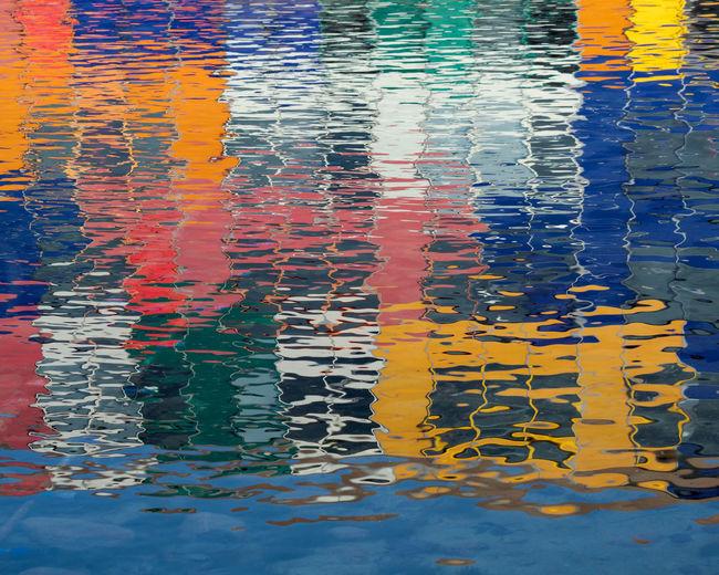 Full frame shot of multi colored swimming pool