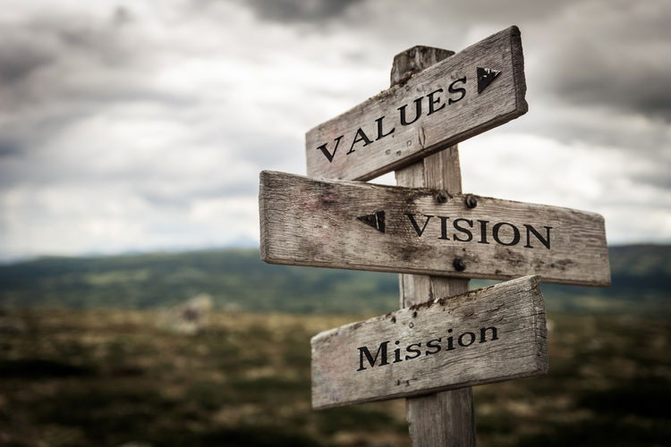 Values, vision,