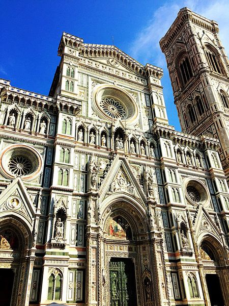 Cathedral Florenz Low Angle View Architecture Religion Spirituality Church Building Exterior Built Structure Place Of Worship Cathedral Travel Destinations City Famous Place Duomo Santa Maria Del Fiore Culture