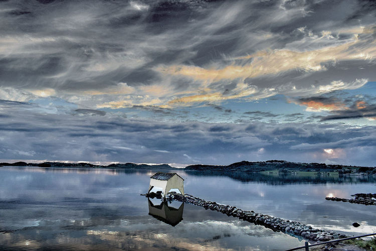 Norway Stavanger Beauty In Nature Cloud - Sky Dusk Hafrsfjor Lake Mode Of Transportation Nature Nautical Vessel No People Outdoors Reflection Scenics - Nature Sky Sunset Tranquil Scene Tranquility Transportation Water Waterfront