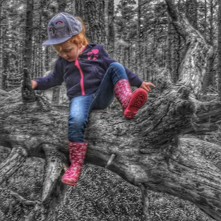 Child Girls Childhood Rubber Boot People Portrait Outdoors Monochrome Blackandwhite EyeEm Best Shots Walking Around Popular Landscape IPhoneography Climbing Check This Out Having Fun Adventure Beauty In Nature Textures And Surfaces