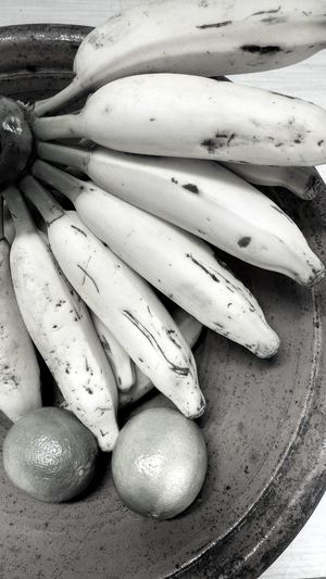 Banana Lemon Black And White Fruit Photography Eyeem Market Hobbyphotography Close-up Food And Drink Raw Food