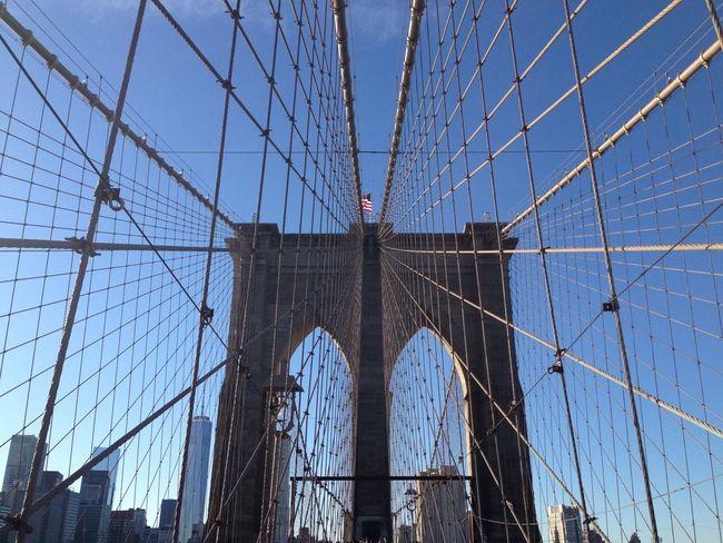 Learn & Shoot: Leading Lines Broklyn Bridge New York Newyorkcity Bridge Blue Sky Beautiful View