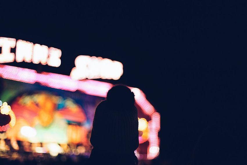 Autumn Carnival Circus Cold Dark Defocused Fairfrou Fairground Festival Hat Light Night Nightphotography Outdoors People Shadows Shadows & Lights Silhouette Sky Winter Winter Wonderland Wintertime Woman Woolly Woolly Hat The Street Photographer - 2017 EyeEm Awards Shades Of Winter Shades Of Winter