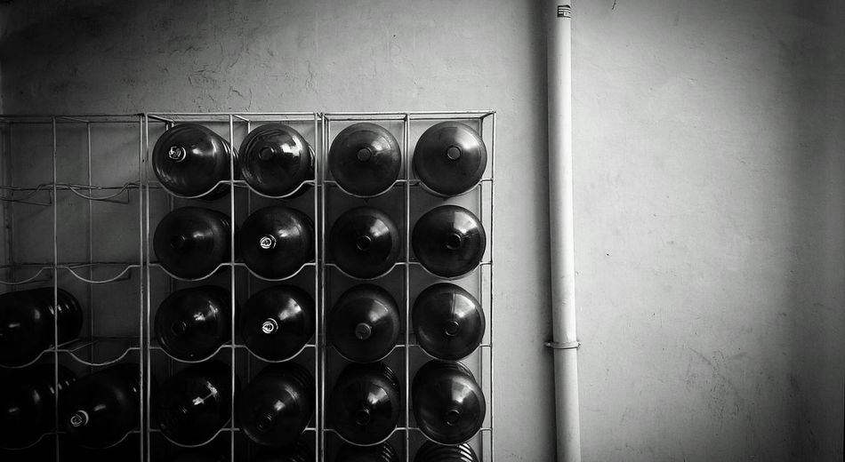 Bottles. Black And White Composition Gallonsandgallons Arrangement Everything In Its Place