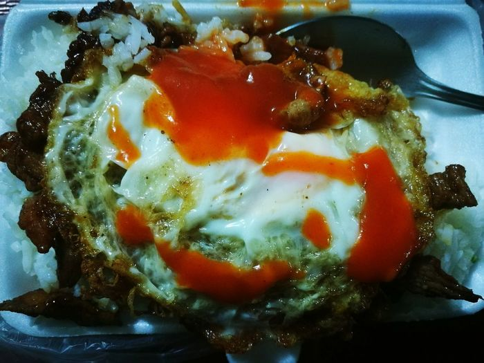 ShareTheMeal Fried Egg Fried Sliced Pork With Garlic