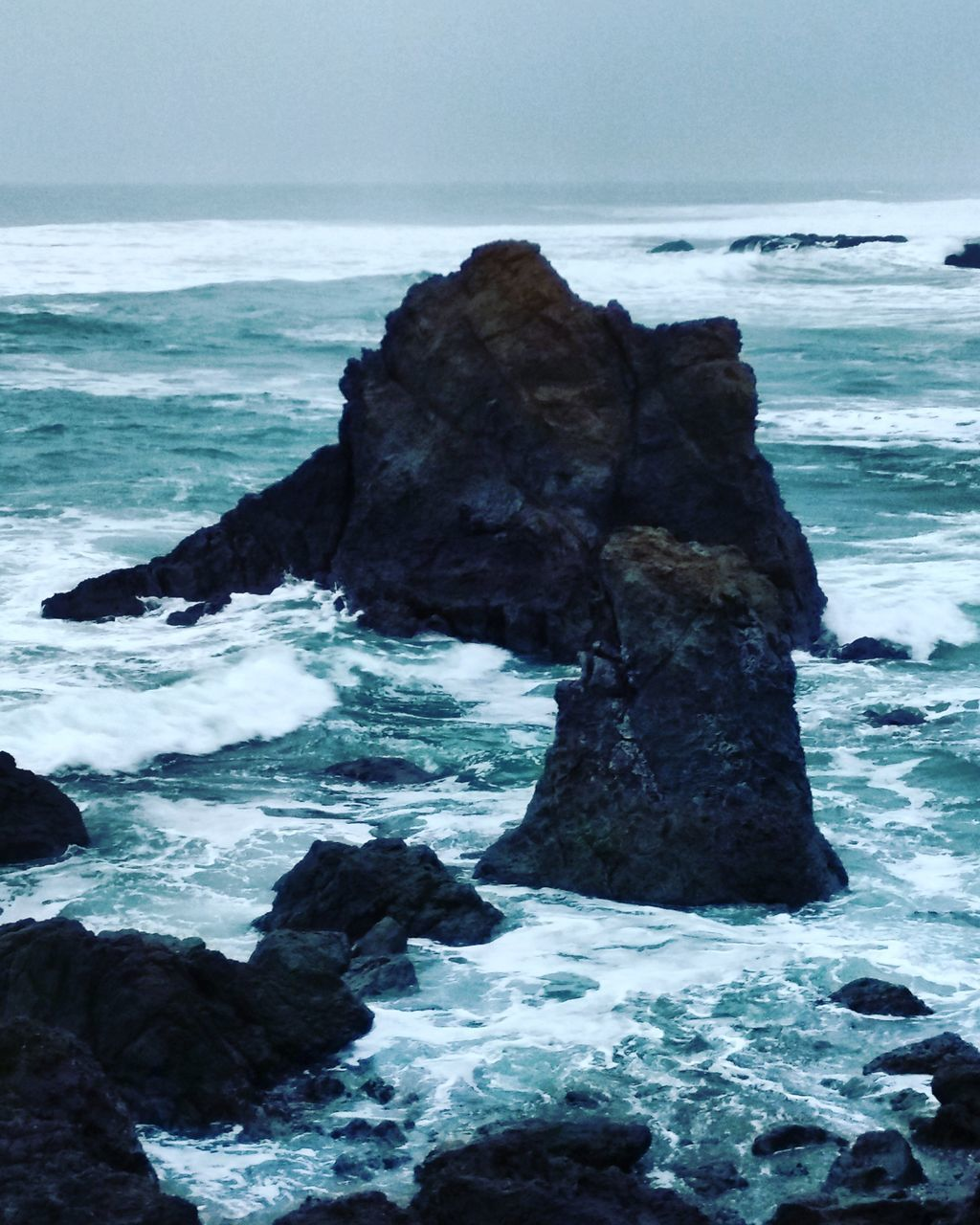 sea, rock - object, nature, rock formation, water, beauty in nature, rock, horizon over water, wave, scenics, tranquil scene, tranquility, no people, beach, outdoors, sky, day, iceberg