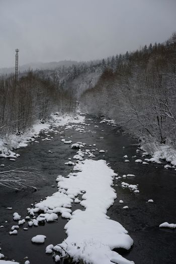 Nature Winter River Winter Landscape No People Non-urban Scene Water Cold Temperature Snow Sky Landscape Extreme Weather Weather Cold Deep Snow Frozen Snow Covered Season  Covering Foggy Snowfall