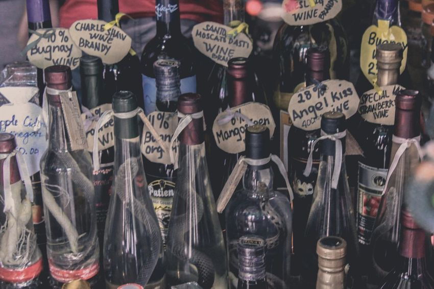 Snake Wine Retail  Retail Display Market No People Large Group Of Objects Business Finance And Industry Price Tag Antique Business Old-fashioned Store