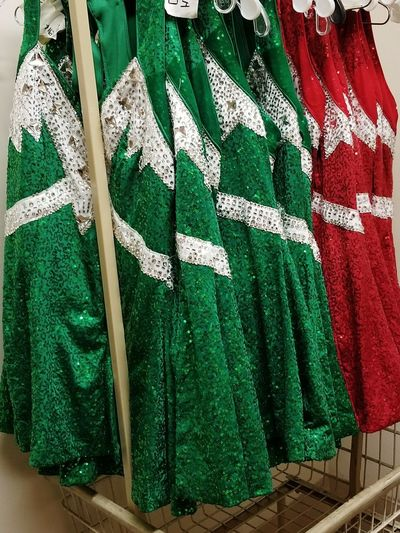 Christmas pagent Christmas Sparkles Dress Pagent Dress Rack Sequence Red Dress Green Dress