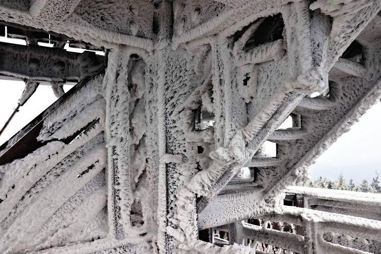 Frozen structure Architecture Built Structure No People Nature Cold Temperature Winter Frozen Ice Snow Lookout Tower Winter Cold December Czech EyeEmNewHere