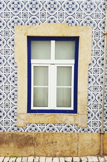 Close-up of house window
