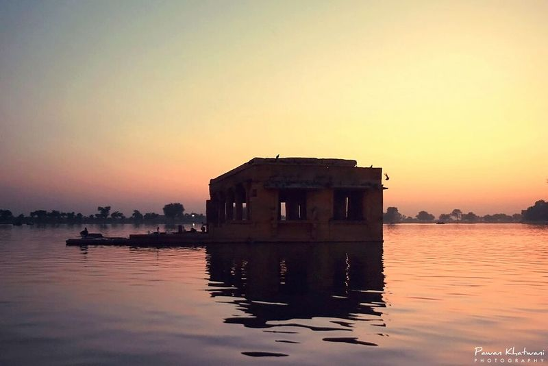 LIVE a life as a monument to your SOUL... Hello World From My Point Of View Still Life Boating At Sunset Lake View Eye4photography  EyeEm Best Shots Eyem Gallery Reflections In The Water Nikonphotography Jaisalmerdiaries DreamScapes Wide Angle Gadisarlake Life Is Beautiful Freeze Frame MEMORIES<3