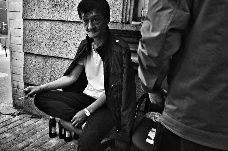 EyeEm Selects Sitting Two People Outdoors Suit Well-dressed Young Adult Real People Day Men Full Length Building Exterior Young Women Businessman Adult City Life Blackandwhite Shanghai