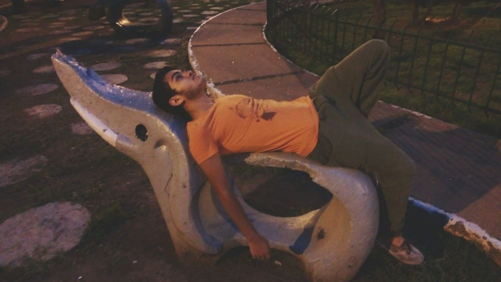 Playground Relaxing Enjoying Life Elefant Noche Night Play Man Parque  Tumblr