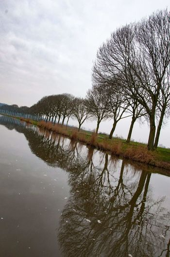 thinking of jan mankes, dutch painter 20th century.. Reflection Picoftheday Reflection Water Lake Sky Outdoors No People Tree Symmetry Nature Day