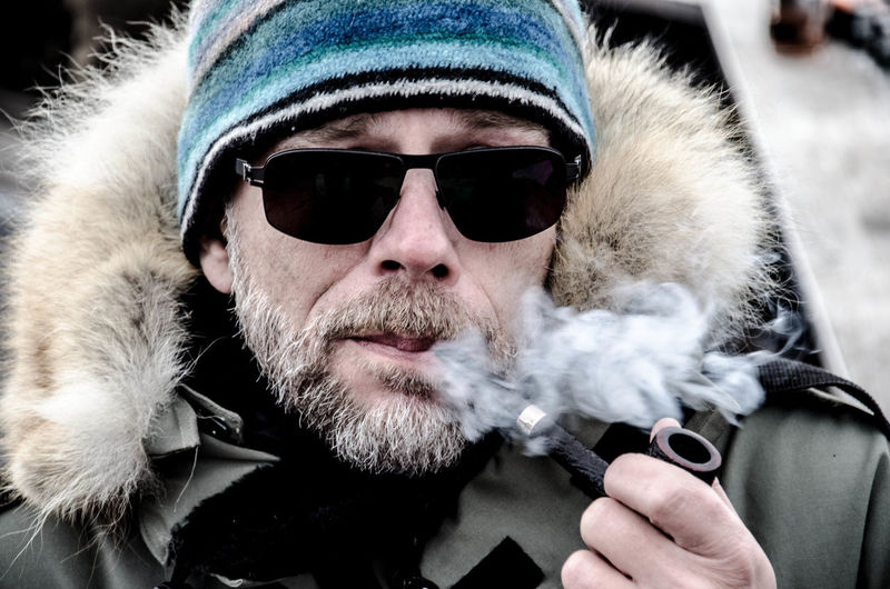 Portrait Smoking Deepfreeze Winter The Human Condition The Portraitist - 2015 EyeEm Awards Its Cold Outside It's Cold Outside