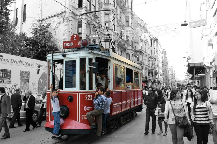 Istiklal Caddesi Istanbul Black & White Blackandwhite Black And White Cityscapes Shades Of Grey Landmark Capture The Moment B&w Street Photography Here Belongs To Me Colour Of Life Mobility In Mega Cities Colour Your Horizn Adventures In The City